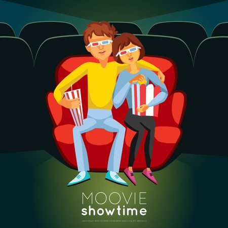routine: Cinema Time Background. Cinema Vector Illustration. Movie Night Design. Cinema Cartoon Decorative Symbols. Illustration