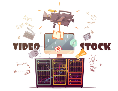 Video stock for all type hd video clips download from global contributors community retro cartoon vector illustration