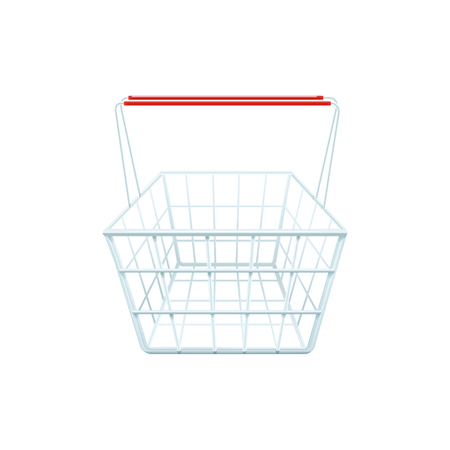 household goods: Shopping basket for shopping in a store mall or supermarket realistic illustration