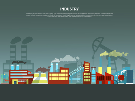 exhalation: Industry concept with abstract isolated vector illustration