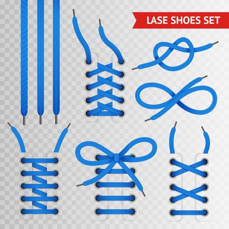 Blue lace shoes icon set with transparent background for creating presentation and sites vector illustration Reklamní fotografie