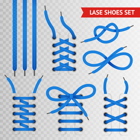 Blue lace shoes icon set with transparent background for creating presentation and sites vector illustration Stock Photo