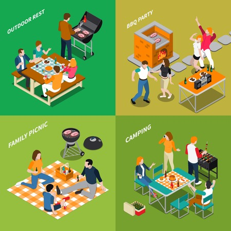 Barbeque isometric compositions