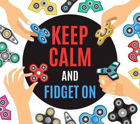 Hand spinner stress reclame advertentie poster