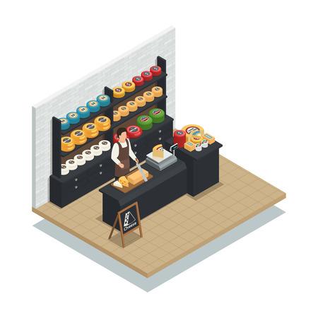ハード エメンタール ソフト モッツァレラチーズとクリーミーなイタリア生産品種ベクトル図チーズ販売スペシャ リスト等尺性アイコン 写真素材 - 86223122