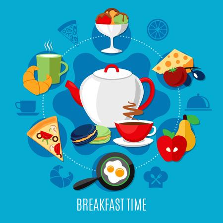 朝食用メニュー付きレストランコンセプト