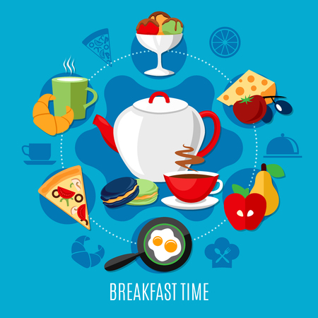 Restaurant concept with menu for breakfast