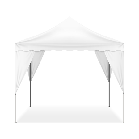 Realistic folding outdoor tent
