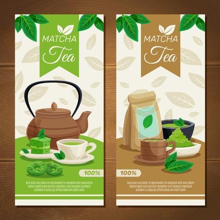 Japanese tea ceremony banners set