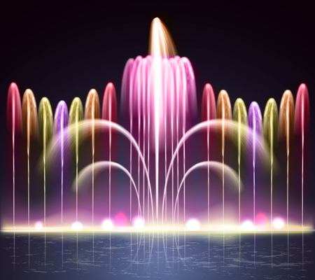 Fuente de espectro iluminado brillante colorido Foto de archivo - 86379321