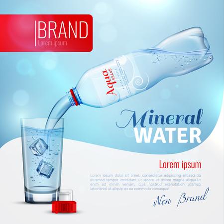 Affiche de marque publicitaire en eau minérale Banque d'images - 86379324