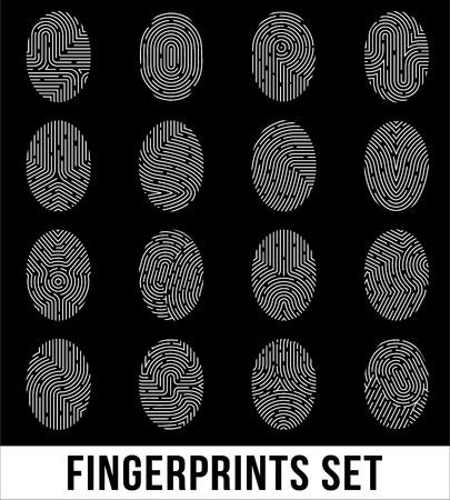 Set of fingerprints Иллюстрация
