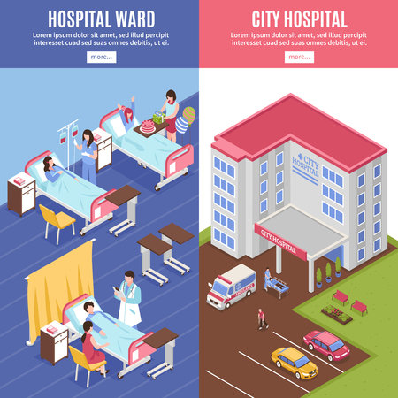 Hospital vertical banners set Иллюстрация
