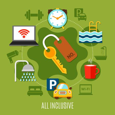 All inclusive design concepts of hotel service