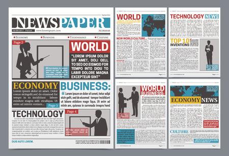 Diseño de plantilla en línea de periódico