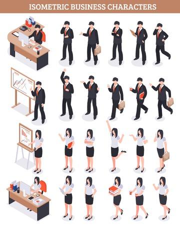 ビジネス文字等尺性はワークフローの図に関係する男性と女性の人の設定します。