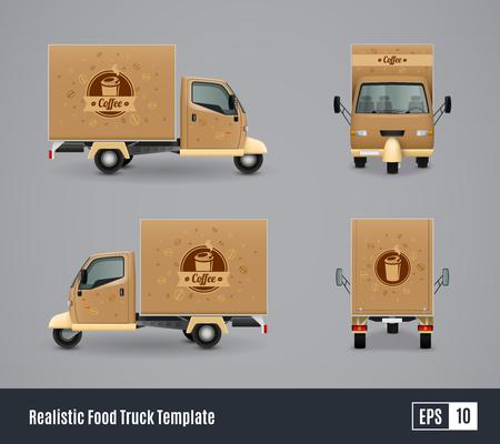 Trucs de nourriture réaliste modèle d & # 39 ; annonce de conception . illustration vectorielle Banque d'images - 88845385
