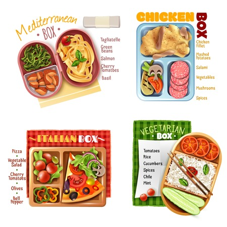 Set of different cuisines menu.