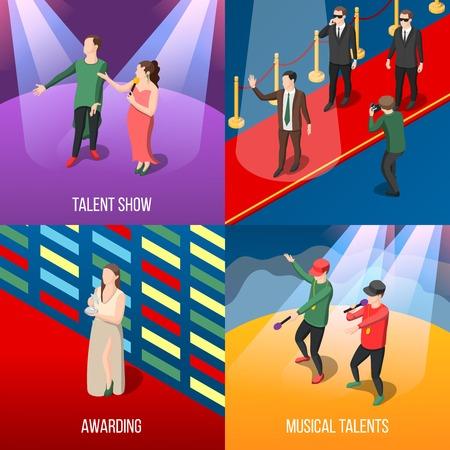 Talenten en prijzen concept Stock Illustratie