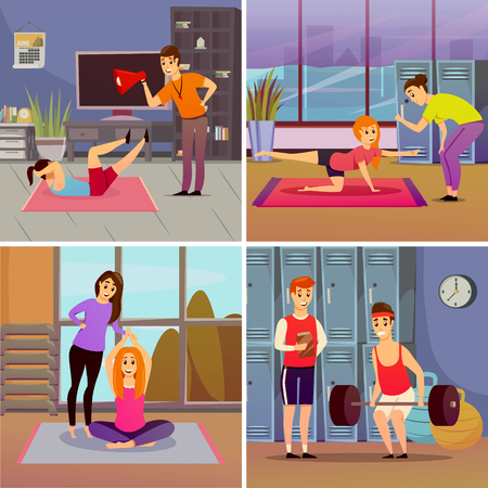 Personal sport trainer orthogonal concept