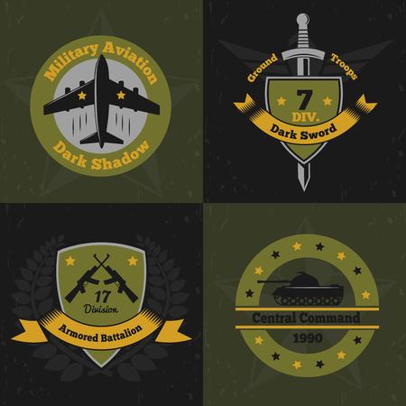 Military emblems concept Ilustração