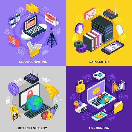Cloud services concept Illustration