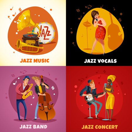 Jazz music design concept Illustration