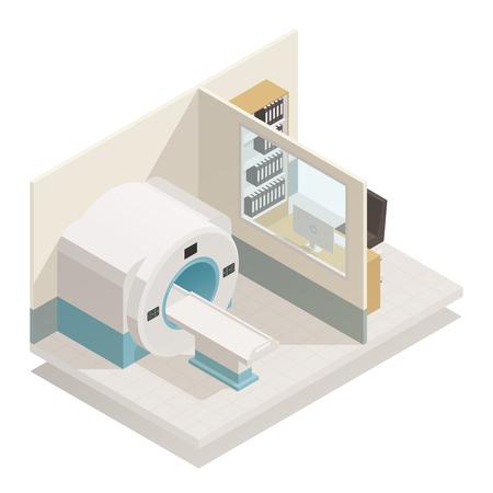 Composizione isometrica dell'attrezzatura diagnostica medica. Archivio Fotografico - 91831395