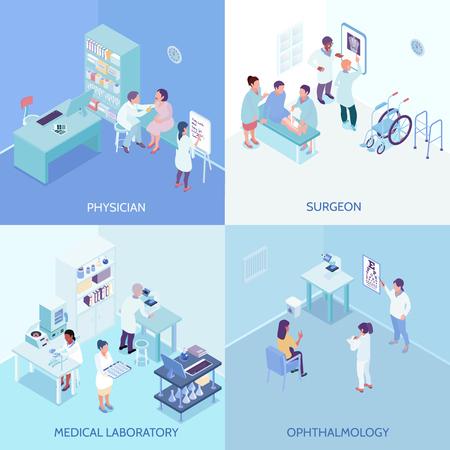 Health care center 2x2 design concept.