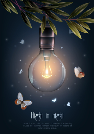 光る電球アイコン。  イラスト・ベクター素材