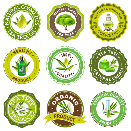 Organic high quality product stamps. Illustration