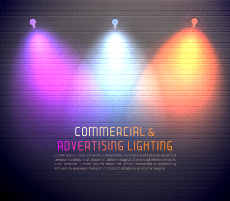 Colored light effects for commercial use vector illustration Illustration