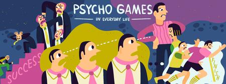 Psycho games poster design Illustration