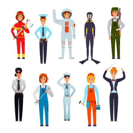 Personnages de professions féminines Banque d'images - 94891084