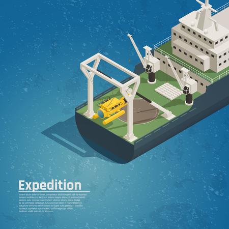 水中探査試験ベクトル図のためのバシースカフダイビング機器