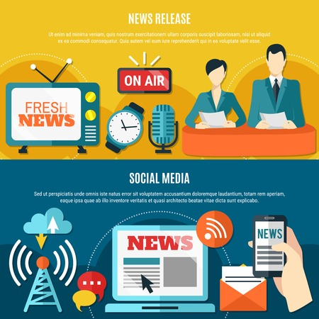 Social media and news release horizontal banners