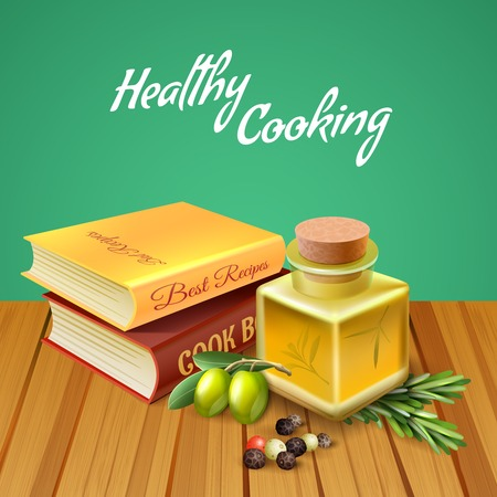Healthy cooking design concept vector illustration Banco de Imagens - 97228359