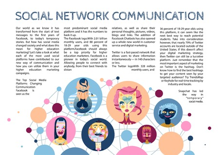 Human inner world in cyberspace network communications context and social media personalities types infographic article vector illustration