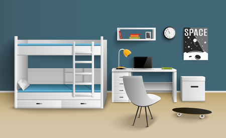Teen boy room interior design