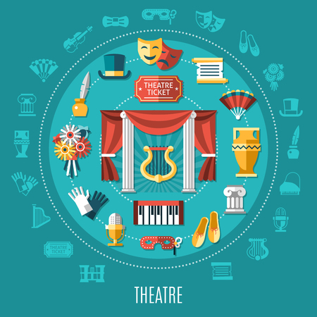Theatre flat round composition