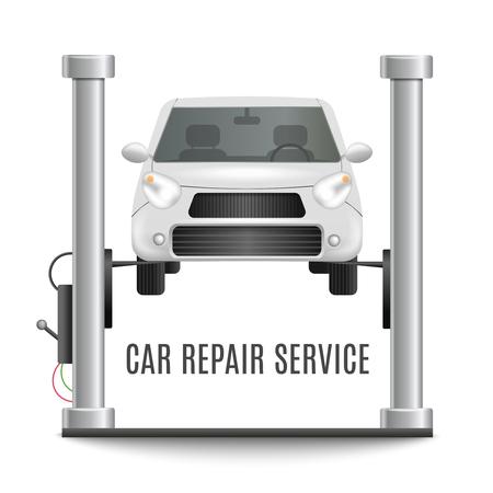 Car repair realistic composition