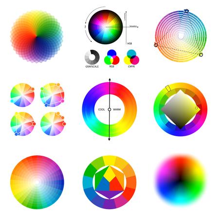 Conjunto de paleta de esquemas circulares de principios de combinación perfectos