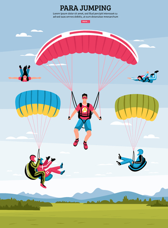 Para-jumping poster Illustration