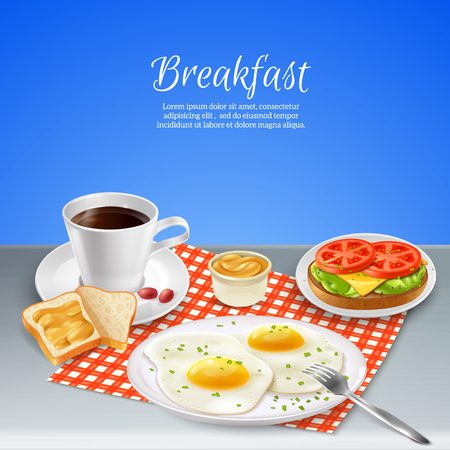 Delicious nourishing breakfast Ilustrace