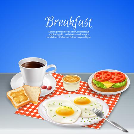 Delicious nourishing breakfast Illustration