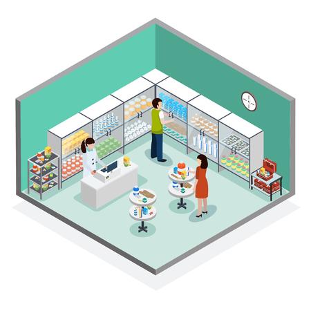 Modern pharmacy drugstore interior