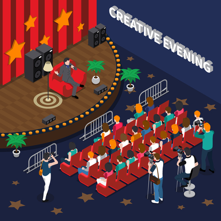 Creative evening  illustration
