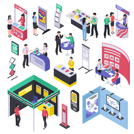 Isometric expo stand trade show