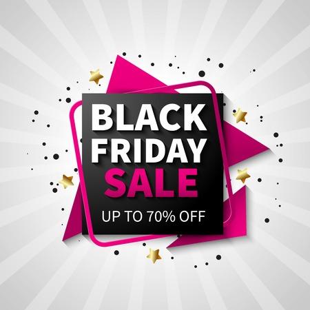 Colorful black friday sale design for flat poster vector illustration