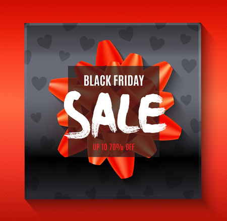 Black friday big sale background with abstract elements flat vector illustration Stock Illustratie